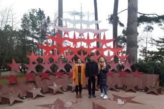 Возложение цветов к мемориалу «Журавли» в парке им.Фрунзе