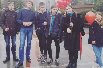 В Сочи прошел флеш-моб «Мы вместе» в поддержку онкобольных детей